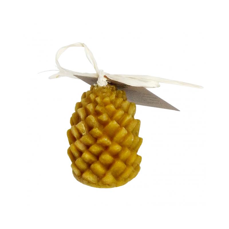 Świeca z wosku pszczelego w kształcie szyszki W005