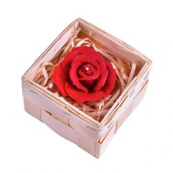 M009 Zestaw upominkowy ze świecą w kształcie róży