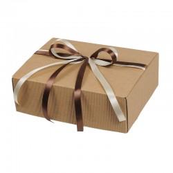 L042 Zestaw prezentowy miodów z woskową świecą w pudełku